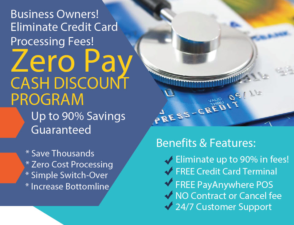 ZERO PAY Cash Discount Program